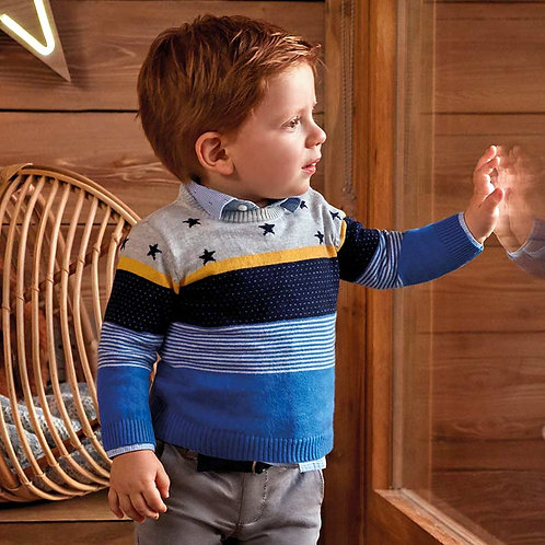 MAYORAL Jumper With Stripes and Stars For Baby Boy