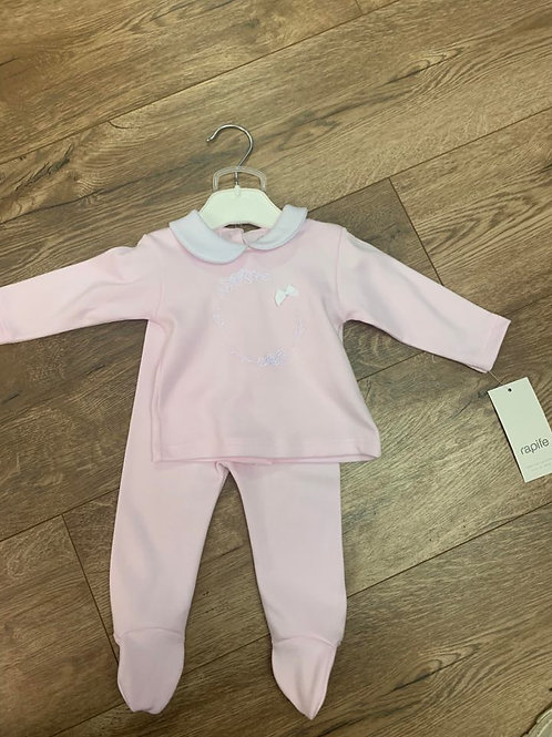 Rapife Girls Pink Bow Top and Trousers Set