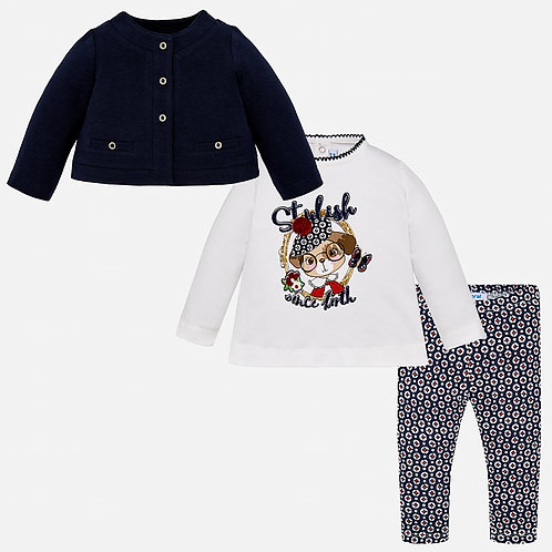 MAYORAL Three Piece Set With Leggings For Baby Girl