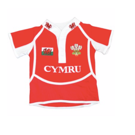 Kids Cooldry Welsh Rugby Shirt
