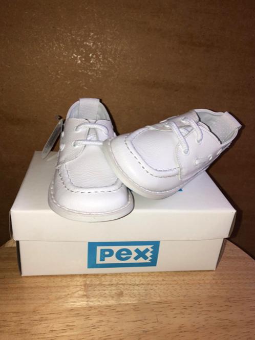 PEX Boys White Captain Shoe