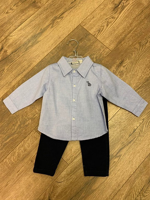 Baby Bol Blue Shirt and Trousers