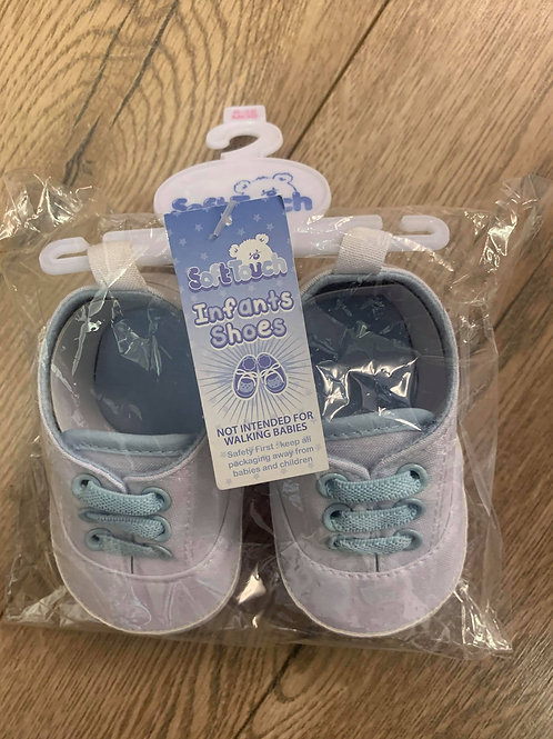 Soft Touch Infant Boys Shoes White and Blue
