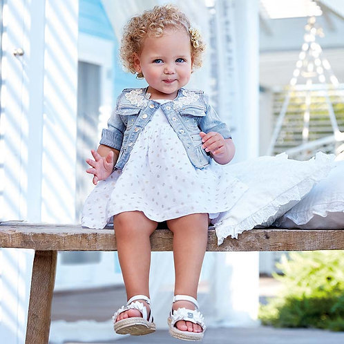 Mayoral Polka dot dress with knickers for baby girl