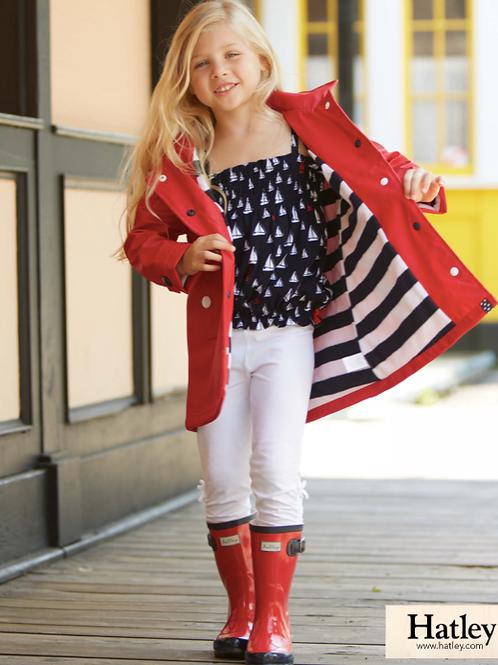 Hatley Red with Navy Stripe Splash Jacket