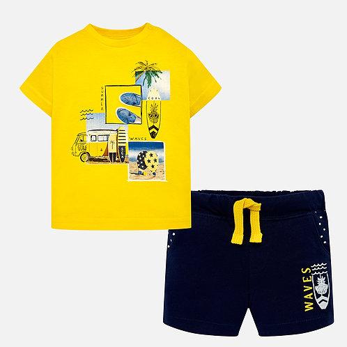 Mayoral Waves print t-shirt and bermuda shorts set for baby boy
