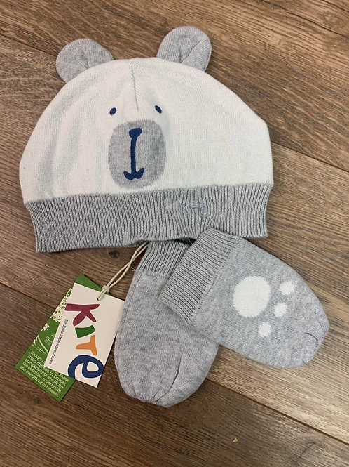 Kite Bear Hat and Mittens Set