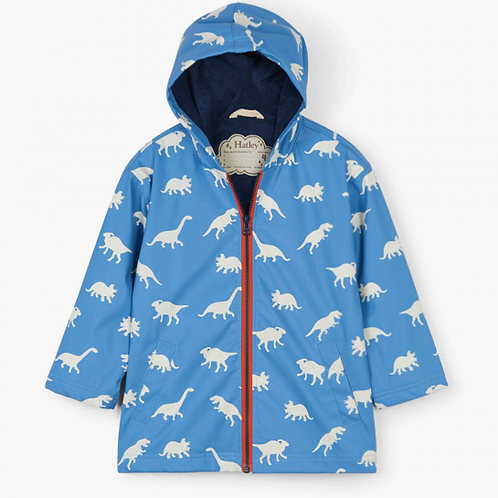 Hatley Colour Changing Silhouette Dinos Splash Jacket