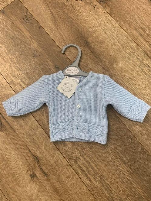 Tiny Baby Blue Cardigan
