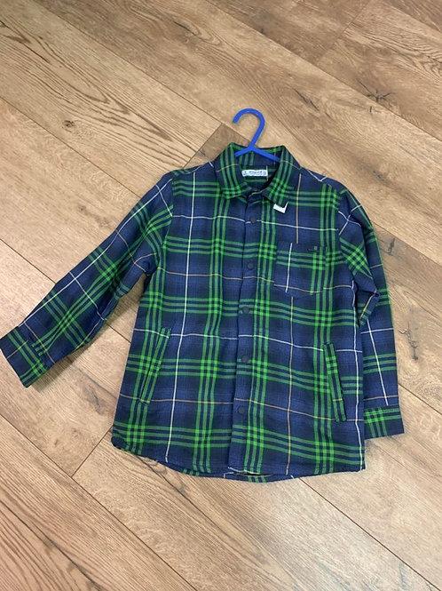 Mayoral Boys Green Check Shirt