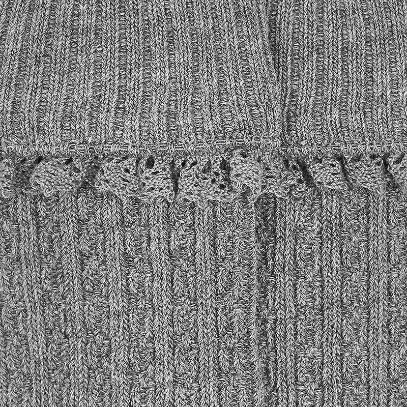 6497af3d9 MAYORAL Grey Cable Knit Knee High Socks For Girl