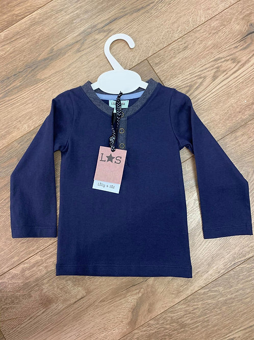 Lilly & Sid Navy Long Sleeved Top