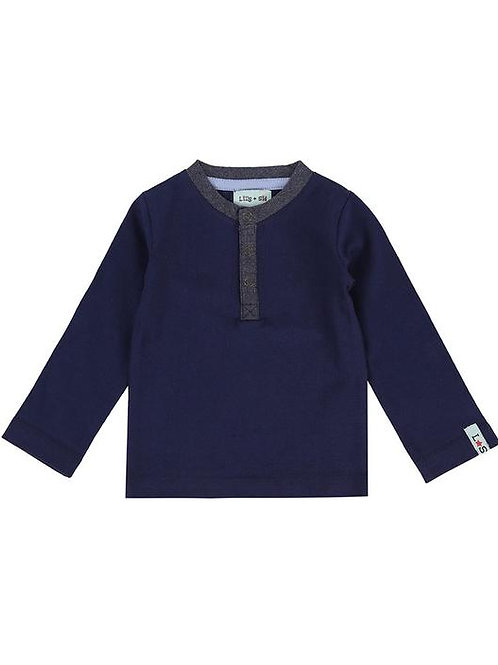 LILLY+ SID HENLEY NAVY TOP