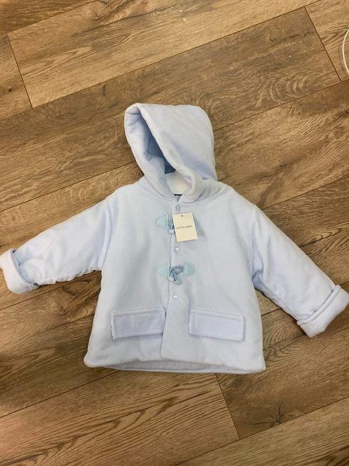 Little Nosh Blue Hooded Coat