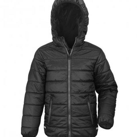 Unisex Black Padded School Jacket
