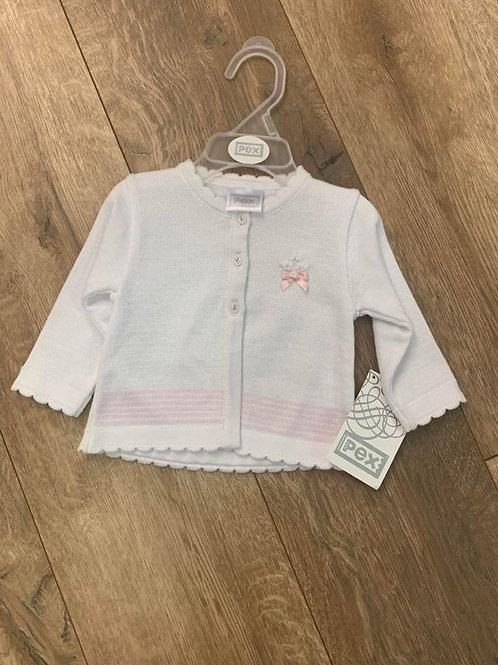Pex White and Pink Cardigan