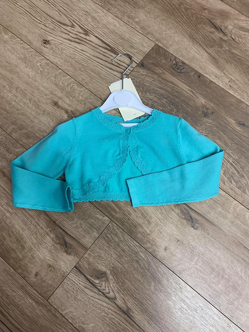 Mayoral Bolero Green Cardigan