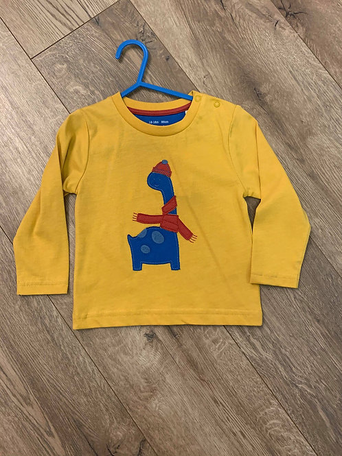 Kite Mustard Dinosaur Top