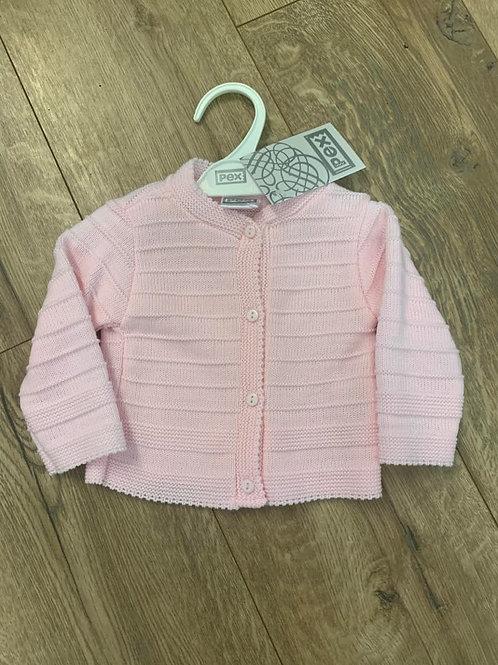 Pex Pink Striped Cardigan