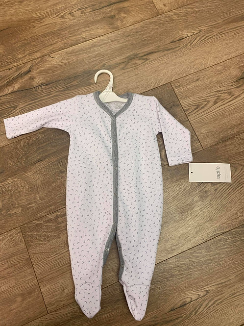 Rapife Moons Grey and White Babygrow