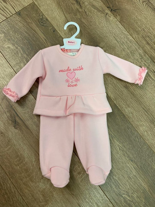 Tiny Baby Made With Love Outfit