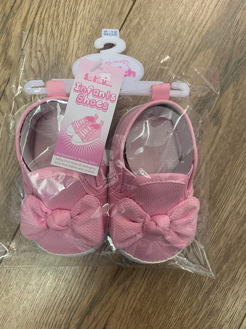 Soft Touch Pink bow Infant Shoes