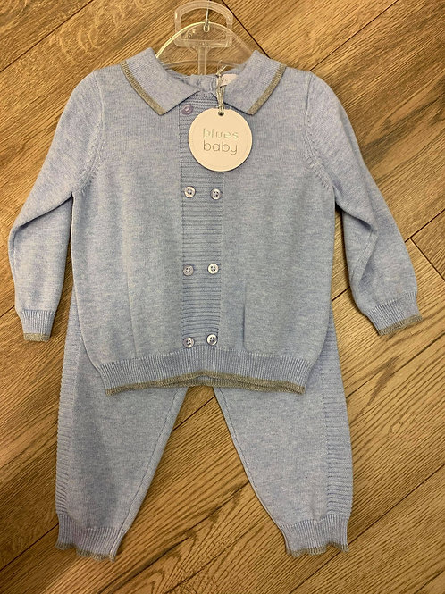 Blues Baby Jumper and Trousers Set