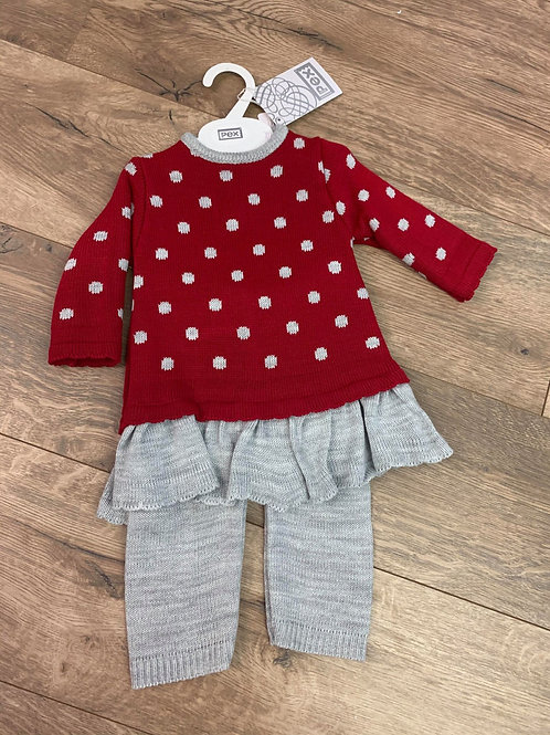Pex Girls 2 Piece Knitted Outfit