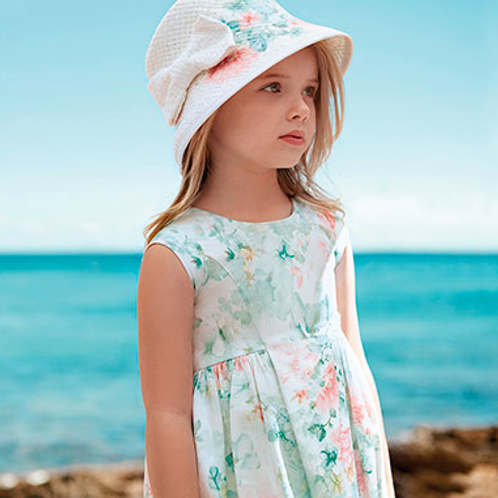 Mayoral flowery girls dress