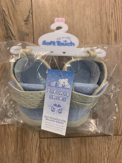 Soft Touch Boys Velcro Infant Shoes
