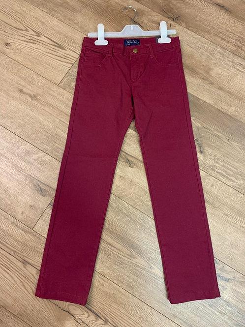 Mayoral Boys Regular Fit Burgundy Jeans
