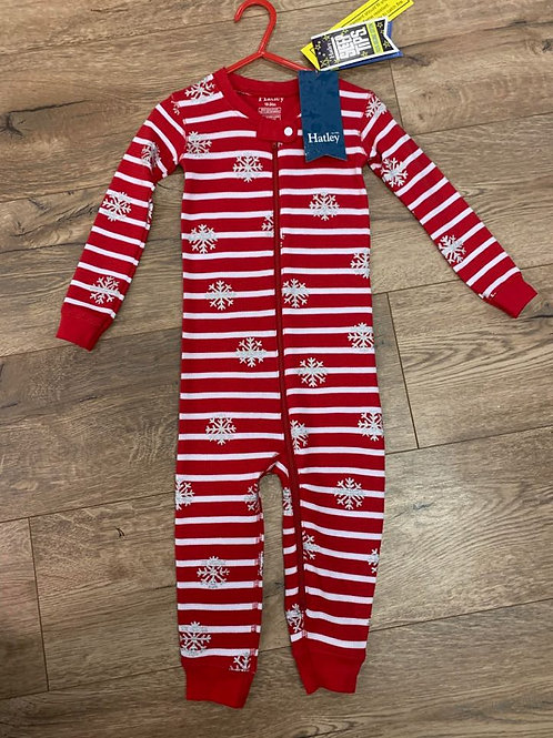 Hatley Red and White Snowflake All in One