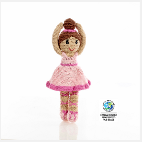 BALLERINA DOLL PINK DRESS, CROCHET