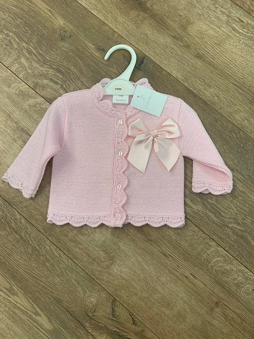 Little Nosh Pink Bow Cardigan