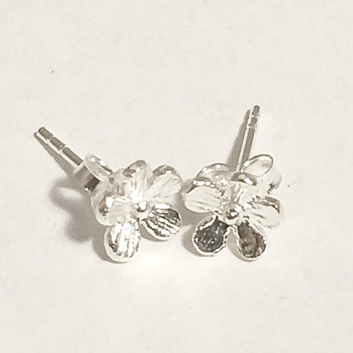 Tiny Flower  Silver Stud Earring