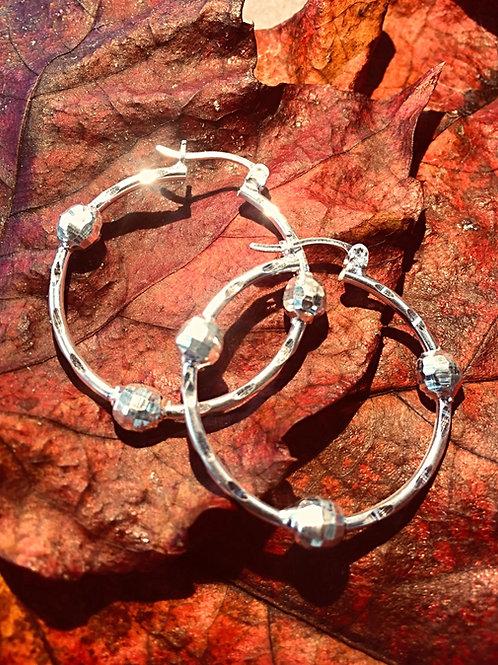 Sterling Silver hoop earrings interplanetary