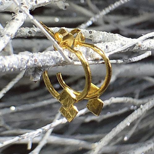 Gold Vermeil embelished half hoop