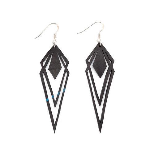 Kite upcycled inner tube earrings