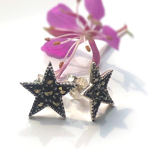 Marcasite Star Stud Earrings