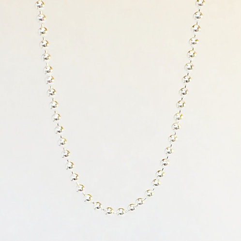Sterling SIlver Ball Chain Silver Necklace