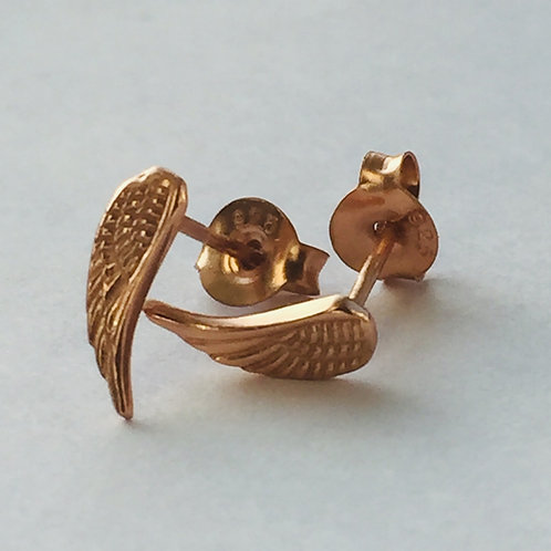Tiny Angel Wings Silver or Rose Gold Plated Silver