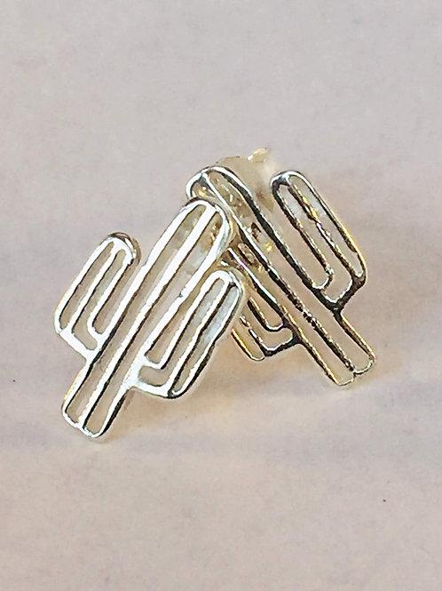 Cacti Siver Earrings Cactus Silver Stud Earrings