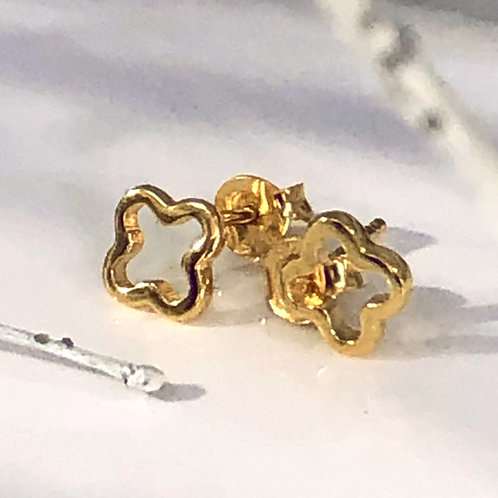 18ct Gold vermeil cross stud earrings