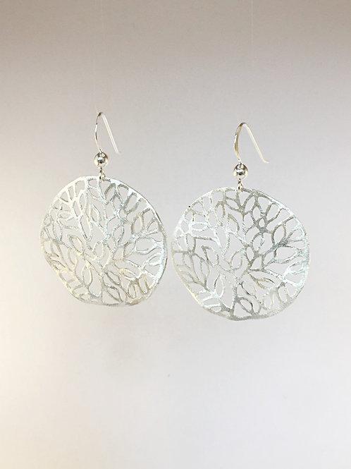 Barrier reef sterling silver earrings