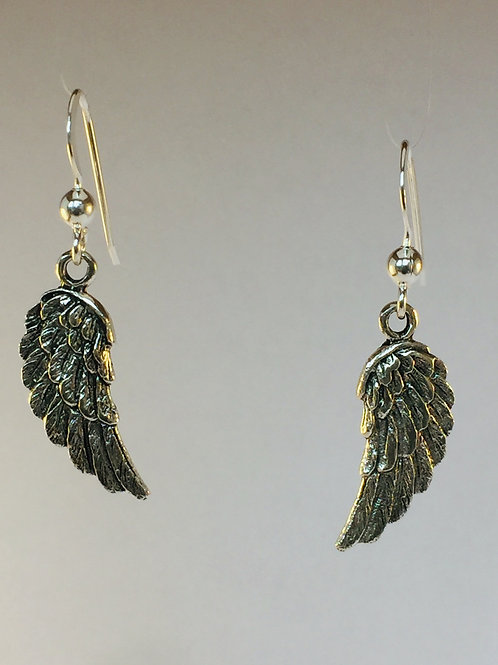 Dangly Angel Wing Sterling Silver Earrings