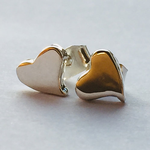 Chunky hearts silver studs