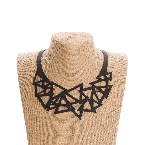Cubism Geometric Inner Tube Necklace