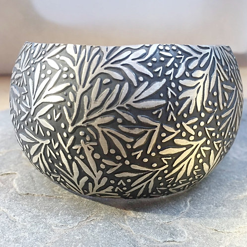 Sterling Silver Patterned Cuff