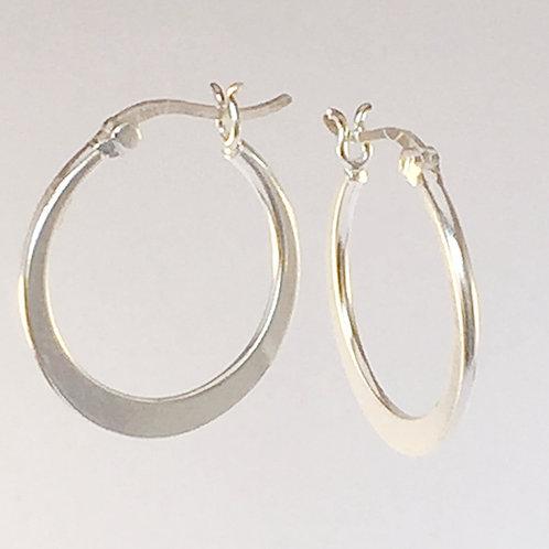Stunning graduated sterling silver hoop earrings