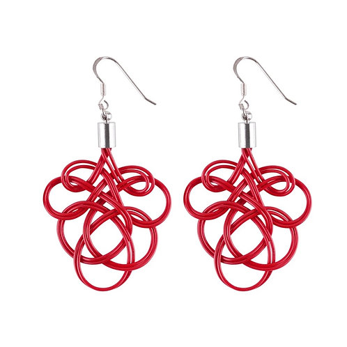 Flamenco upcycled electrical wire earrings